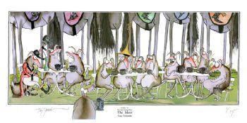 Fun Equestrian Art Print - Hue and Cry 4